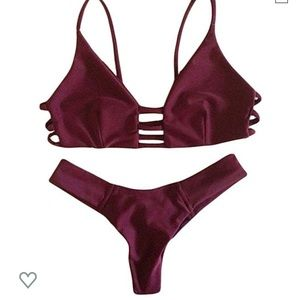 Wine colored Bikini Set